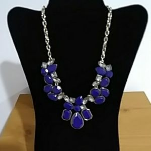 *$3 for $10* NWOT BLUE/CLEAR RHINESTONES NECKLACE